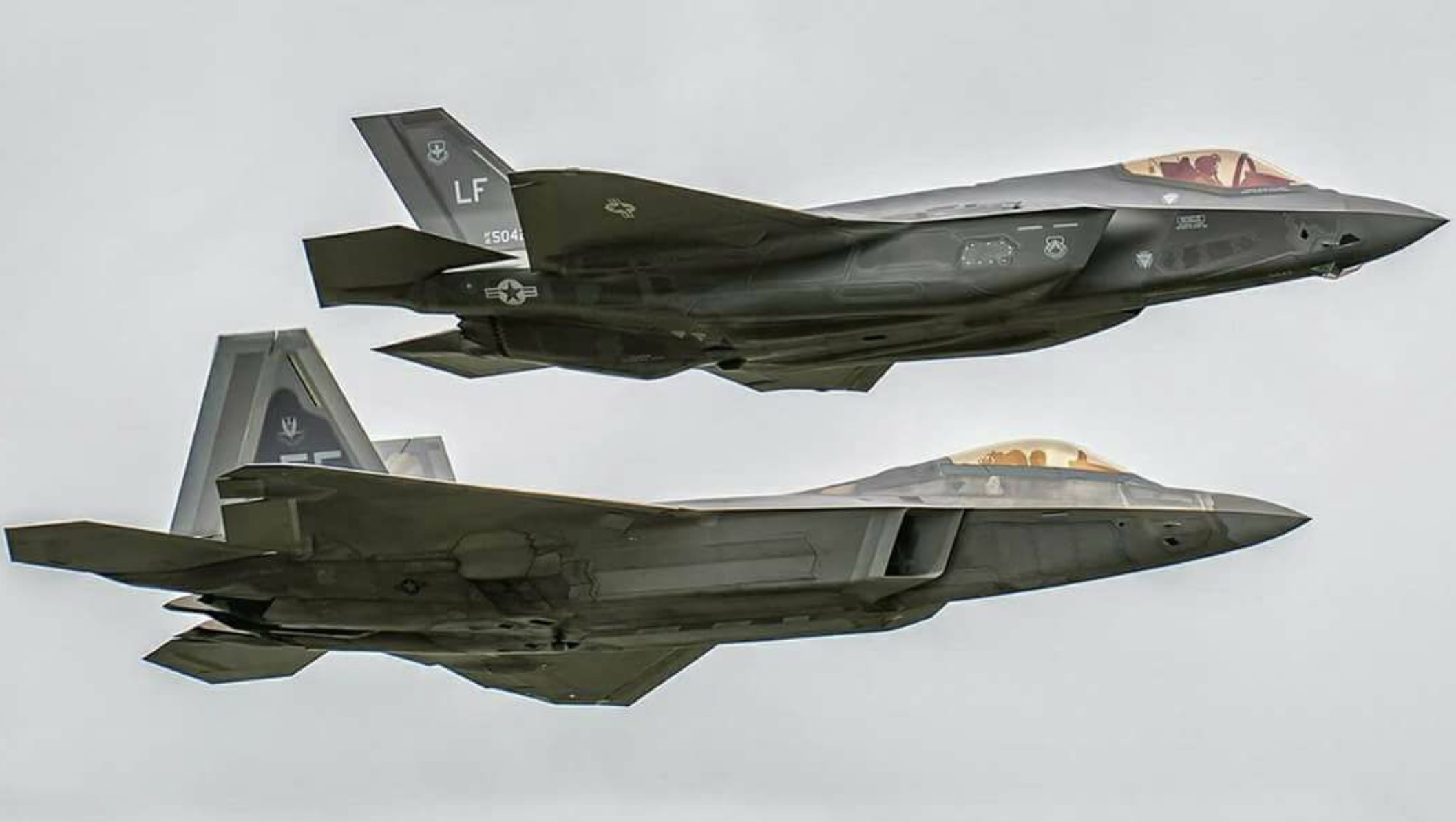 F-35 (top) and F-22 Fifth Generation Fighters