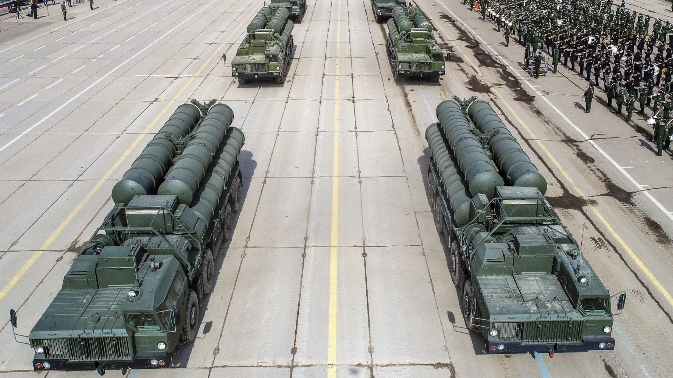Russian S-400 Surface to Air Missile Batteries