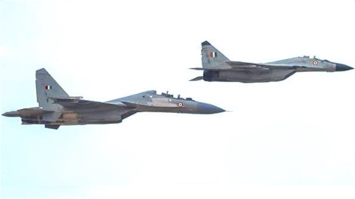 Indian air force Su-30MKI and MiG-29